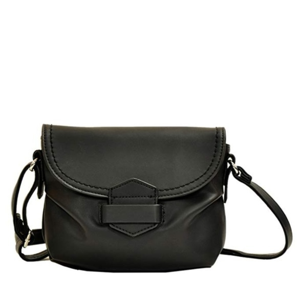 Handbags - Black Tuck & Loop Soft Crossbody Purse Bag